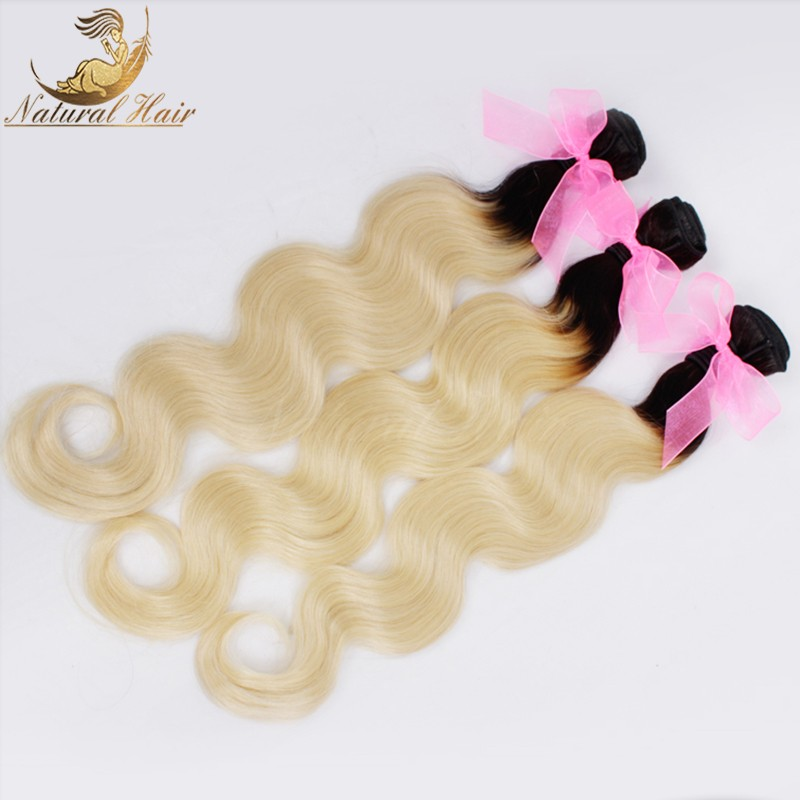 7A Grade Brazilian Virgin Hair With Closure 613 Blonde Brazilian Body Wave Lace Frontal Closure With Bundles