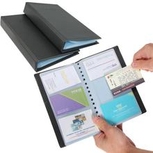 Portable 120 Cards Leather Business Name ID Credit Card Holder Keeper Organizer Book ZH275