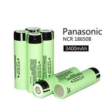 New 2016 May 6 pcs. 100% new original for panasonic 18650 3.7 V 3400 mAh rechargeable NCR18650B LIthium battery + free shipping(China (Mainland))