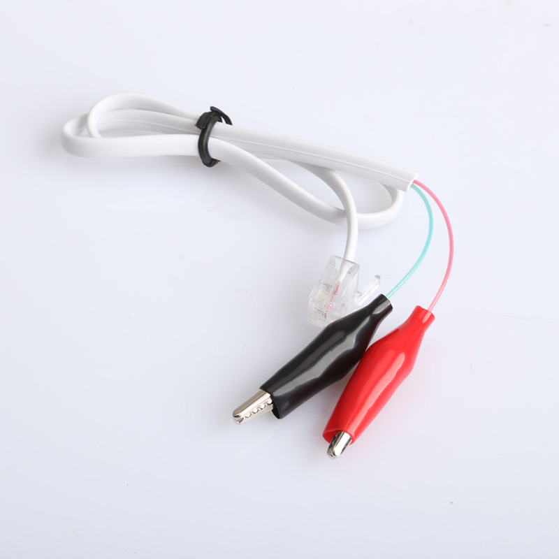 Free Shipping Home Phone Telephone Rj11 Plug Alligator Clip Test Tester Cable Wire Cord E#TN(China (Mainland))