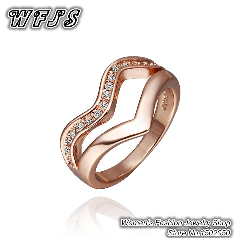 2015 Big Promotion Real 18K Rose Gold Platinum Plated Engagement Rings for w