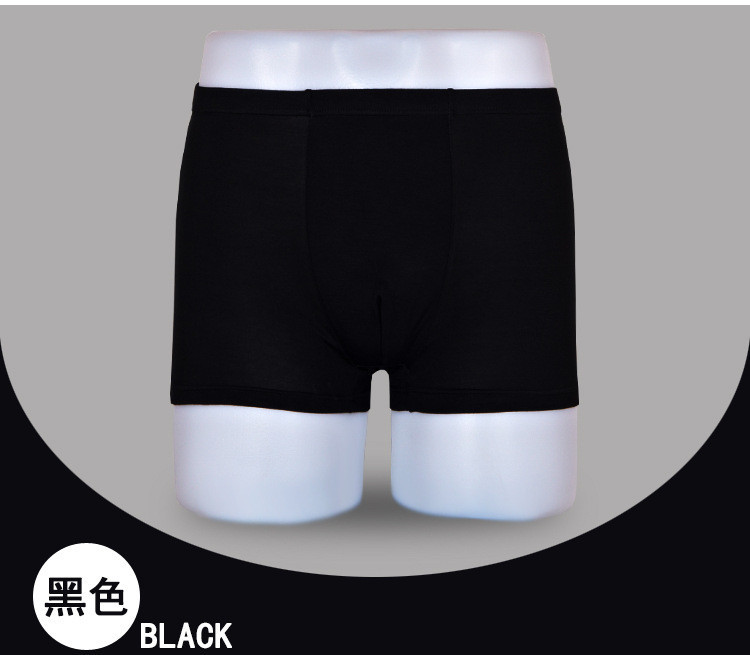 Free Shipping Mens Underwear Men s Boxers Bamboo Fiber Plus Size Breathable 1pcs lot
