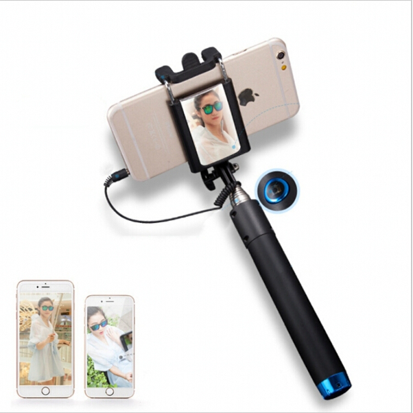for iphone 6 5s samsung htc rearview mirror selfie stick folded wire pole sel. Black Bedroom Furniture Sets. Home Design Ideas