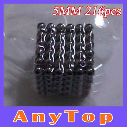 Buckyballs 100sets/lot 5mm 216 pcs Black Color neodymium Toy Neo Cubes Magnet Bucky Balls with OPP packing, EMS Free shipping(China (Mainland))