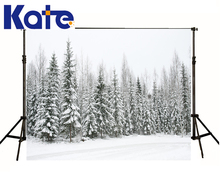6.5X10Ft Photo Studio Backdrop Camera Fotografica Pine Forest Covered Snow On Branches Floor For Wedding Thick Cloth