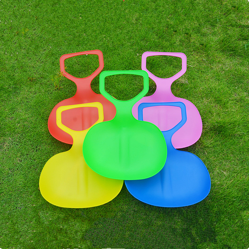 New 1pc Kids/Adult Thicken Children Plastic Grass Skiing Pad Sled Boards Snow Sledge For Winter Sports(China (Mainland))
