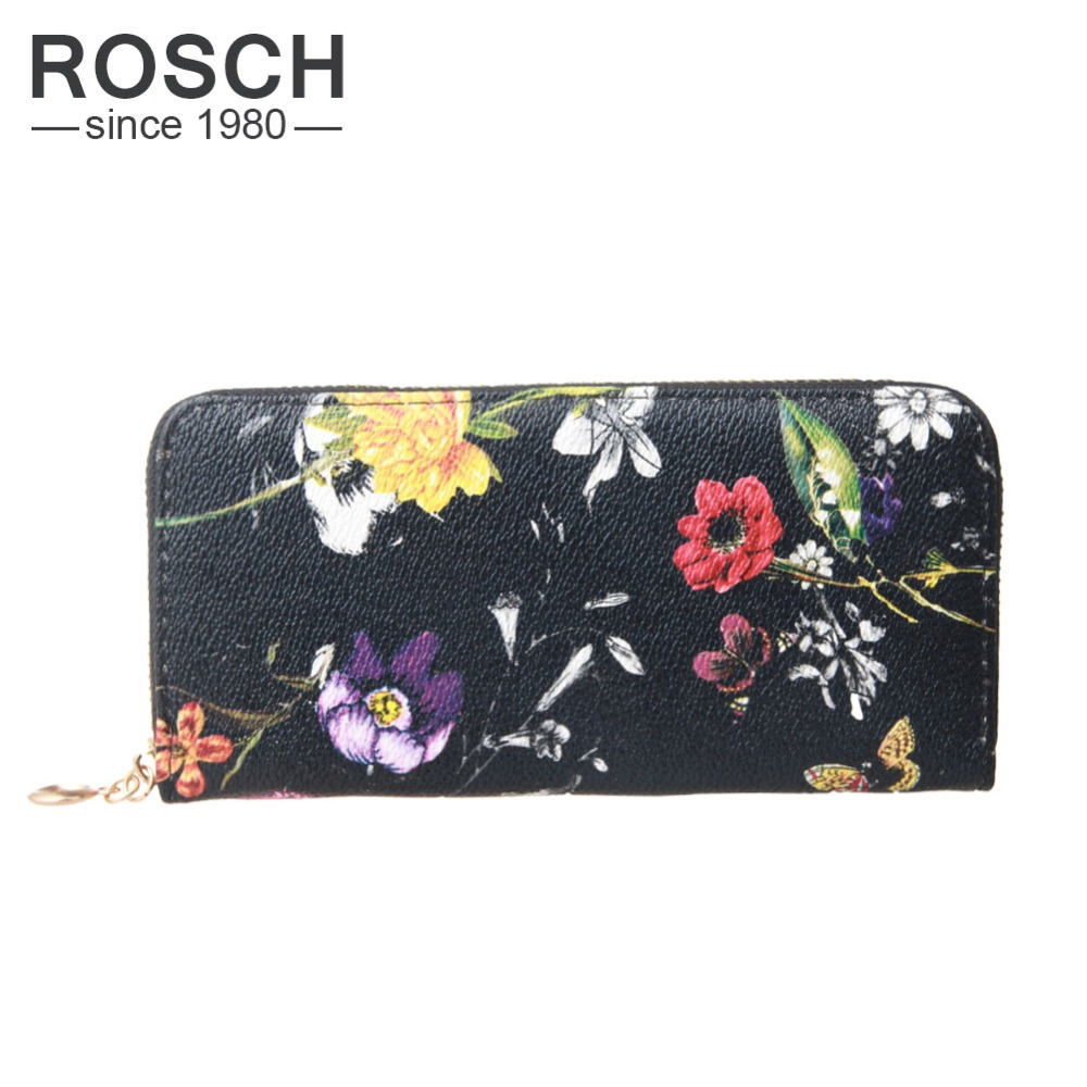 Famous Brand Luxury Long Women Zipper Wallets Fashion Designer Floral Pattern Female Ladies Wallet and Purse with Mobile Holder(China (Mainland))