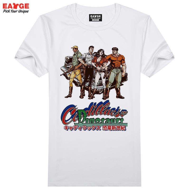 Cadillacs and dinosaurs t shirt design nostalgic video for T shirt design game