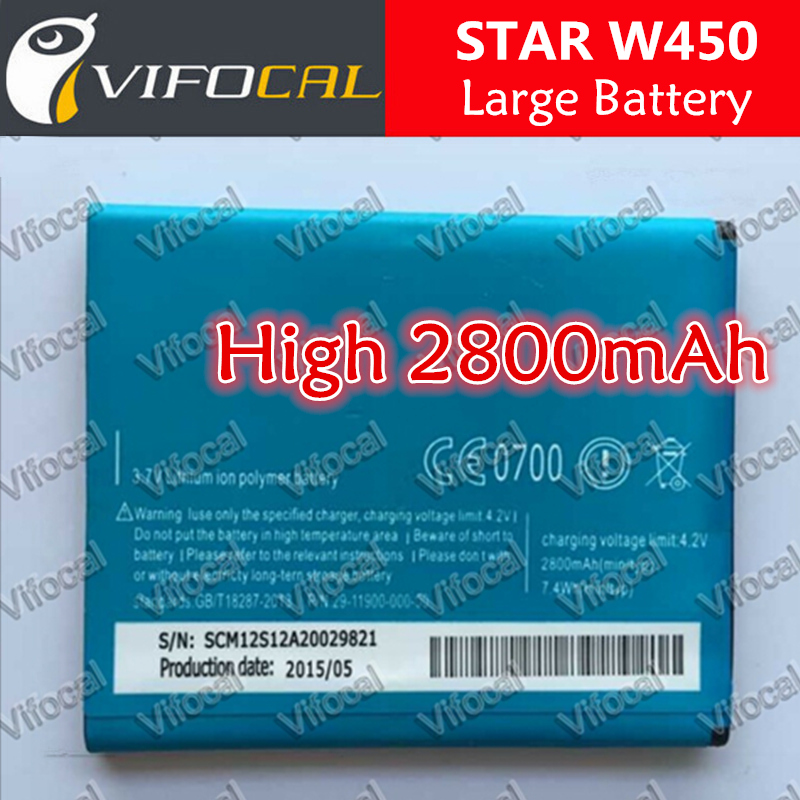 STAR w450 battery 100% Original 2000mAh Replacement bateria For Smart Mobile Phone + Free Shipping + Tracking Number - In Stock