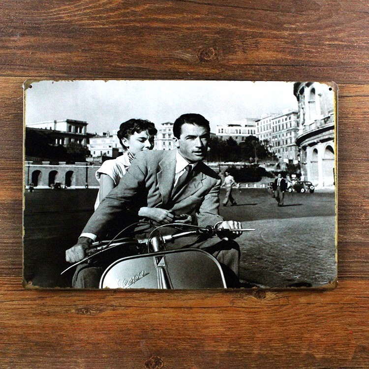 RO-0055  free shipping  motorcycle movie star  vintage home decor  metal Tin signs for bar vintage decorative plates 20x30cm