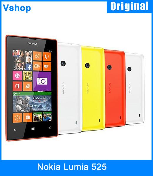 "Original Nokia Lumia 525 Windows Phone 8 Dual Core ROM 8GB+RAM 1GB 1024MHz 4.0""TFT Screen 5.0MP 3G WCDMA GPS WIFI Smartphone(China (Mainland))"
