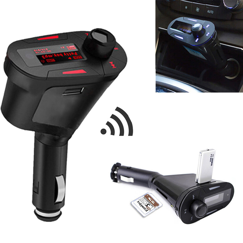 SEDETA LCD Car Kit LCD high speed MP3 Player Music Wireless FM Transmitter SD memory card MMC With Remote high quanlity Red(China (Mainland))