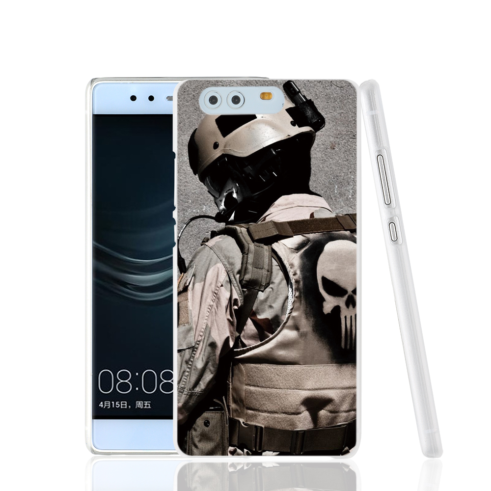 17693 Military Punisher cell phone Cover Case for huawei Ascend P7 P8 P9 lite Maimang G8(China (Mainland))