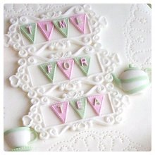 Kitchen Baking Accessories Bunting Alphabet Design Mat Silicone Letter Mould Fondant Cake Decrtation Tools