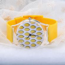Transparent Series Sweet Fresh Summer 2015 Rubber Watch Unisex Silicone Quartz Women Men WristWatch Clock Wrist