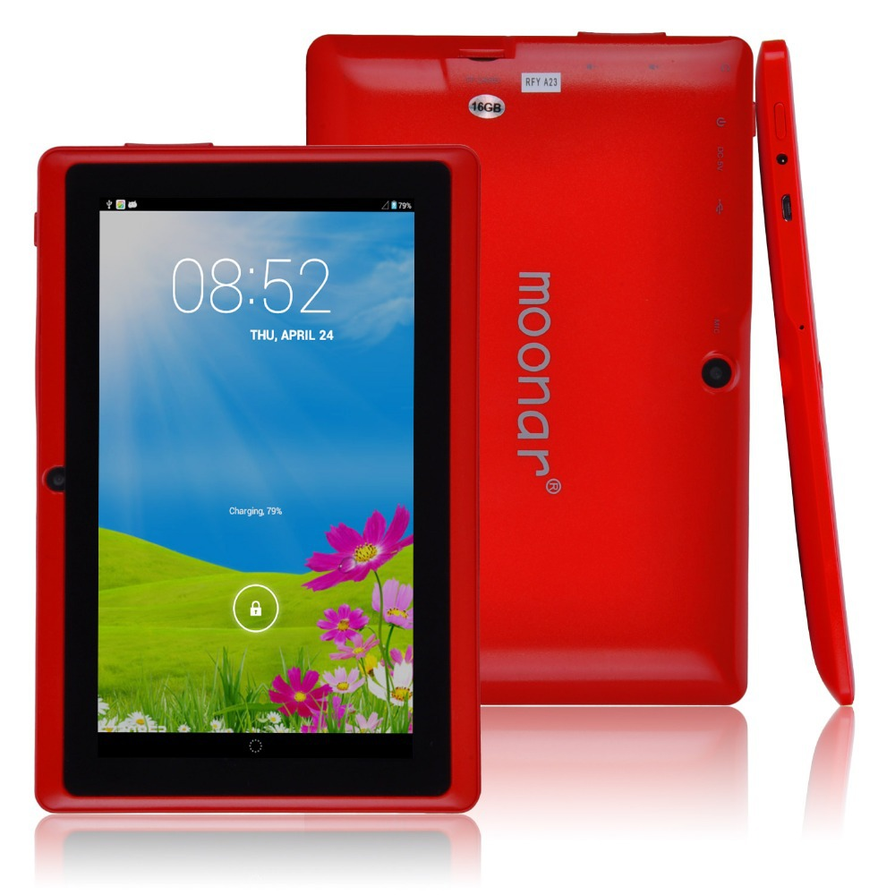 """7"""" Tablet PC Allwinner A23 Dual Core 1.5GHz Android 4.2 Moonar Logo 512MB/16GB Multi-Color Dual Core Dual Camera WIFI JDA1016(China (Mainland))"""