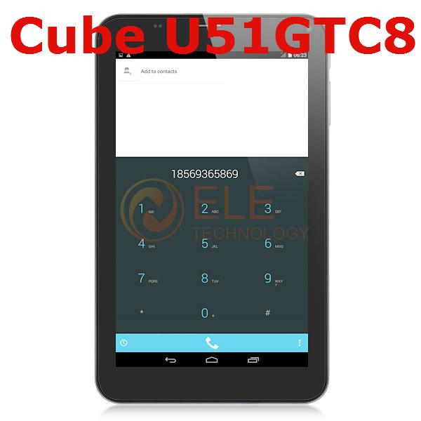 7inch Cube U51GT C8 talk 7x Octa Core phone call tablet pc MTK8392 1GB RAM 8GB ROM 3G WCDMA 2G GSM TALK7X Android tablets(China (Mainland))