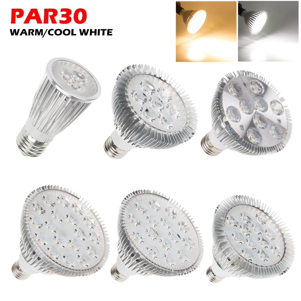 New Ultra Bright E27 PAR20 Par30 PAR38 LED Light Bulb Lamp 85-265V 6W 14W 18W 30W 36W LED SpotLight Lamp Bulbs Indoor Lighting(China (Mainland))