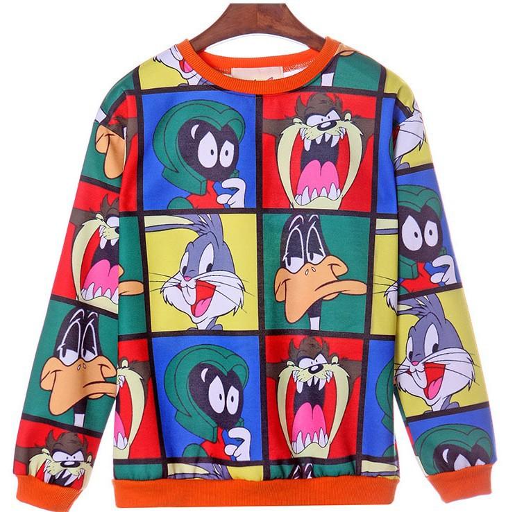 [Magic] Top HOT ! whole clothing print cartoon Animal cotton hoodies sweatshirts women sweatshirt casual WY0292 free shipping(China (Mainland))
