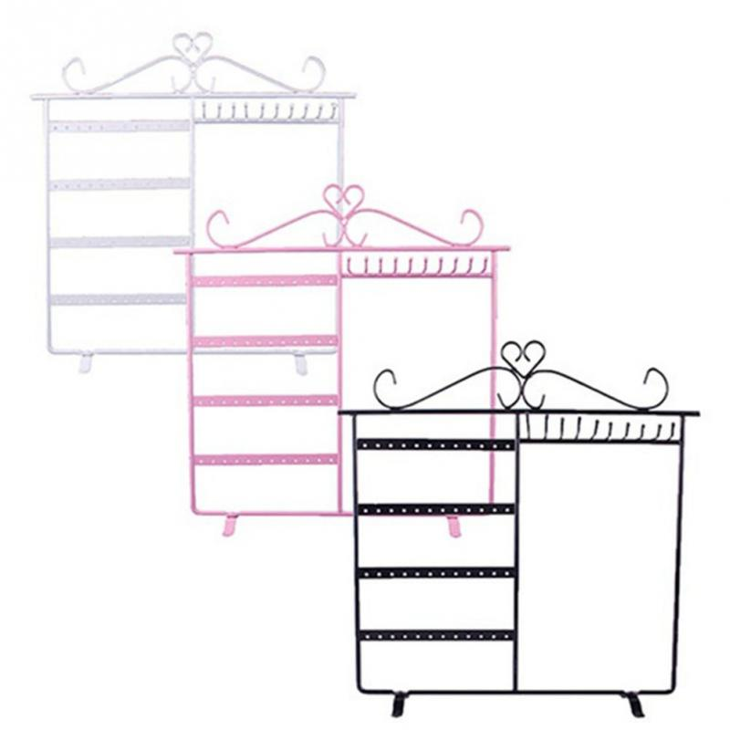48 Holes Jewelry Hanging Earring Display Necklace Metal Jewelry Holder Showcase Rack Stand Holder Organizer(China (Mainland))