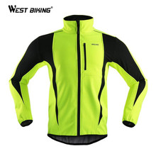 Cycling Jersey Winter Fleece Windproof Clothing Ropa Ciclismo Sport Men Hiking MTB Bike Bicycle - WEST BIKING Equipment Co., Ltd. store