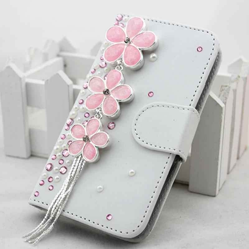 flower sister2 Handmade 3D Bling Diamond Crystal Rhinestone flip pu leather wallet folrio case for iphone 6 plus 6s plus(China (Mainland))