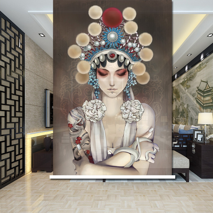 Retro Chinese Peking Opera Roller Shade Multi Size Available Custom(China (Mainland))