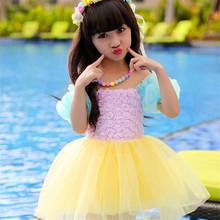 Summer Baby Girl Dress 2016 Flower Mini Dresses Raibow Short-sleeves High-grade Children Clothes With 100% Cotton Girl Dress