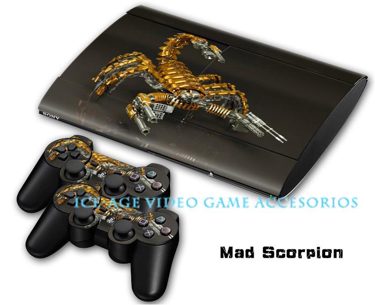 Cool fashion Mad Scorpion Sticker for PS3 4000 super slim ...