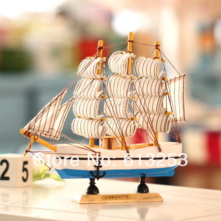 Wooden Crafts Sailing Boat. Desktop Decoration. European Mediterranean Style Sailing Ship. Wooden Handicraft. Gift ID:A0102145(China (Mainland))