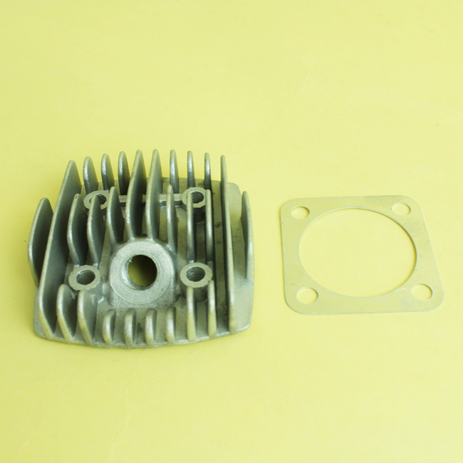 OPHIR 48CC 49CC Bicycle Engine 2 Stroke Motorized Silver Inclined Cynlinder Head with Gasket Engine Parts