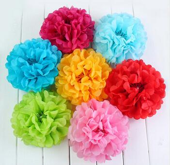 10 шт./лот 6 '' красочные папиросной бумаги пом англичане цветочные шары свадьба день рождения ну вечеринку ae02026