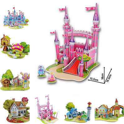 Educational 3D Model Puzzle Jigsaw Mini Princess Castle Nice House DIY Toy New(China (Mainland))