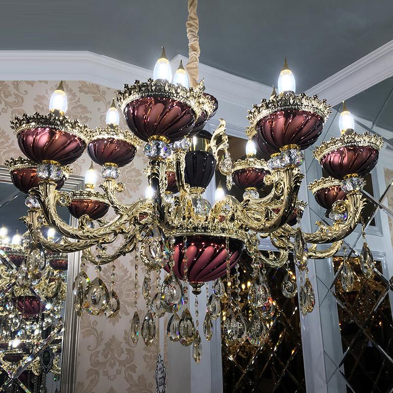 lampadari viola : Cristallo viola viola lampadario illuminazione interna a led lampadari ...