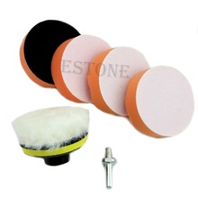 "6pcs 75mm 3"" High Gross Polishing Buffing Pad Kit for Car Polisher Buffer Hot(China (Mainland))"