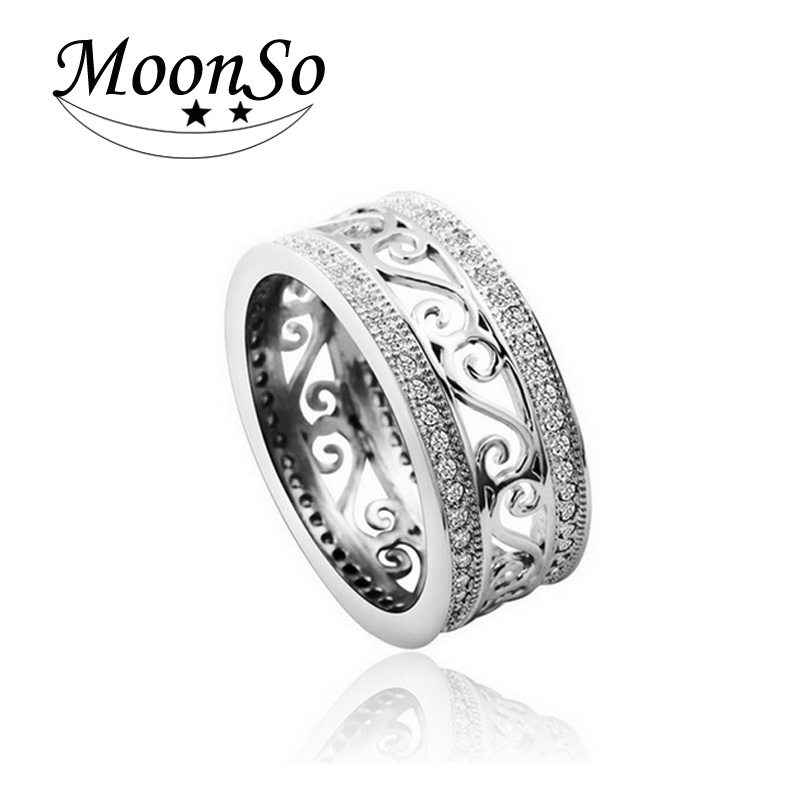 Vintage Antique Retro 925 Sterling Silver rings for women jewelry CZ Diamond T0879 Engagement Wedding Band anillos anel aneis(China (Mainland))