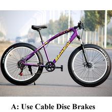 7/21/27 Speed 20/26 Inch Fat Bike / Snow Bike,4.0 Width Wheel,High Carbon Steel Frame,Aluminum Alloy Rim,Front & Rear Disc Brake(China (Mainland))