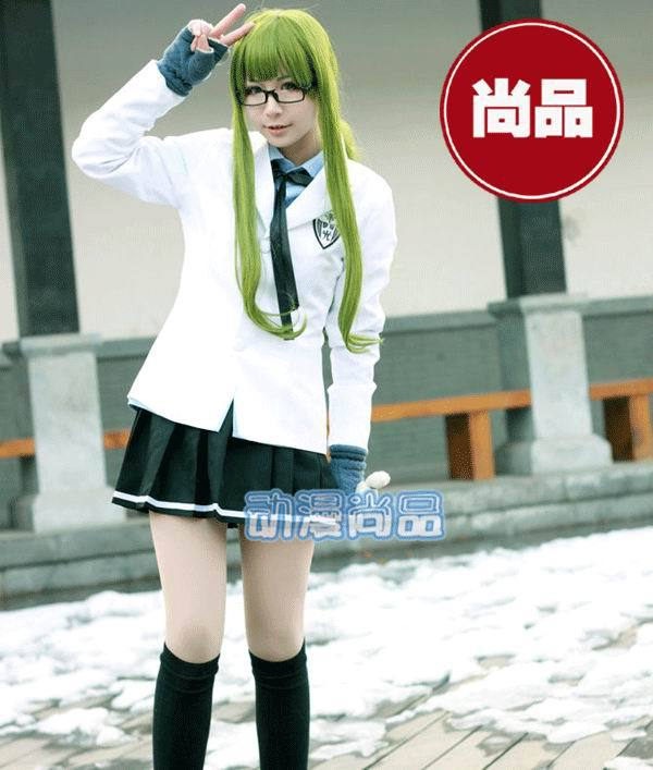 Kuroko no Basuke Kise Ryota Light Emperor In School Uniform Cosplay Costume(Shirt, coat with badge, tie, skirt)free shipping(China (Mainland))