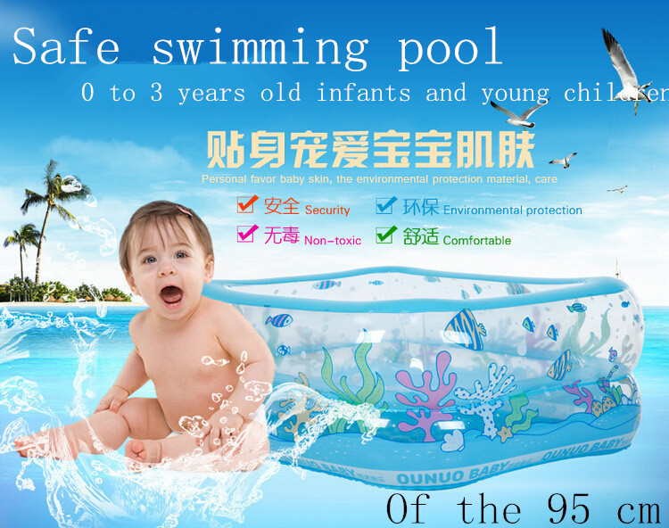 High quality antifreeze high temperature resistant PVC bath baby circular pool infant environmental inflatable swimming pool(China (Mainland))