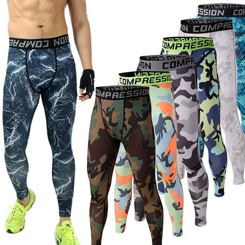 Mens Joggers 2016 GYM Compression Pants Running Tights Men Camouflage Sport Training Leggings Crossfit Trousers