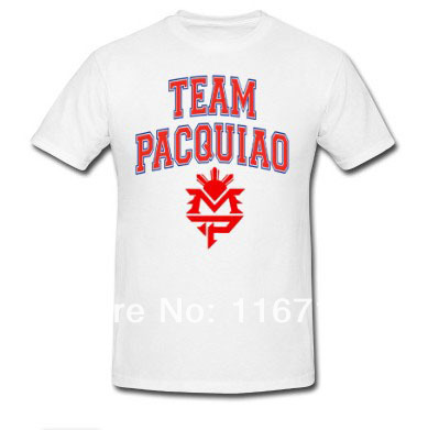 New arrival fashion mens t shirts team pacquiao custom for Custom team t shirts