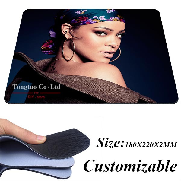 Free shipping new Rihanna Background pattern case Gaming Silicone Mouse Pad 180X220X2MM(China (Mainland))