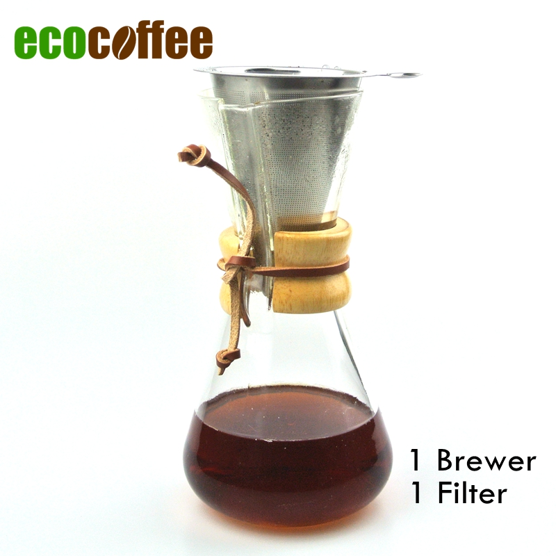 Chemex Style Coffee Maker : New Arrival FREE SHIPPING CHEMEX Style Coffee Brewer 1 3 Cups Counted Espresso Coffee Makers ...
