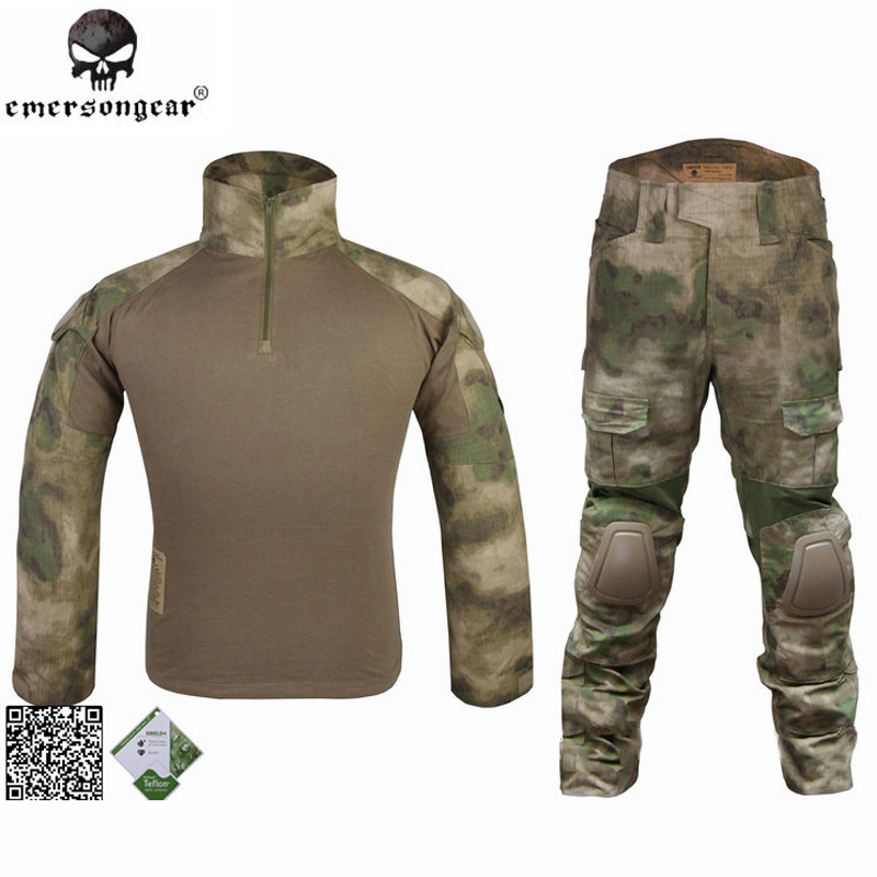 DHL FREE SHIPPING ! Emerson BDU Gen2 Combat Shirt &amp; Pants &amp; Pads  A-TACS/FG EM6922<br><br>Aliexpress