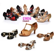 New Ballroom Salsa Tango Latin Dance Shoes 7cm High Heels Dancing Shoes For Women Ladies Girls Free Shipping In Stock