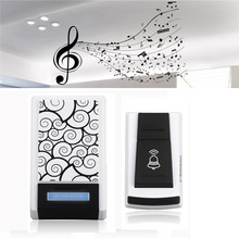 Waterproof Wireless Smart LED Doorbell with 1 Receiver DC Door Bell 100M 36 Chimes 100m Range Remote Control Home Security