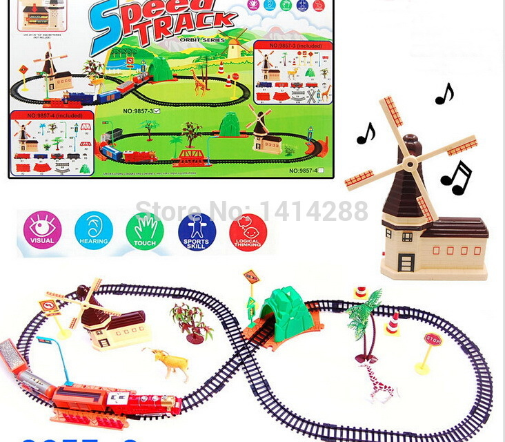 Electric Rail Train Assembled Toy with Light Music Kids Toys Sets for Christmas Birthday Gifts Boy Vehicles Gifts(China (Mainland))
