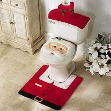 3pcs/lot bathroom Santa claus Toilet  New Year Home Decoration Gifts Christmas decoration enfeites  natal navidad christmas