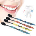 4 Pcs Lot Bamboo Charcoal Toothbrush Double Ultra Soft Tooth Brush Oral Hygiene Health Travel Toothbrush