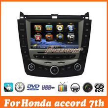 central multimedia navigation car dvd gps for honda accord 7 2003-2007 With Single Zone Climate Control